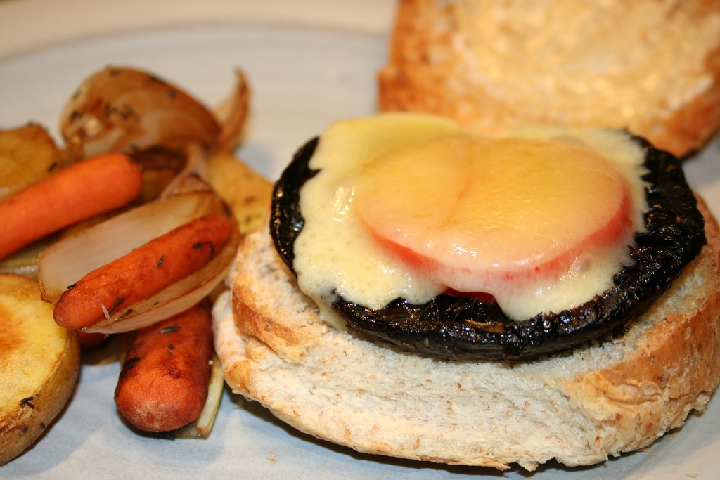 Gourmet Portobello Mushroom Burger, Photo by jennifer, Flickr commons